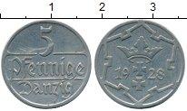 Изображение Монеты Польша Данциг 5 пфеннигов 1928 Медно-никель XF+