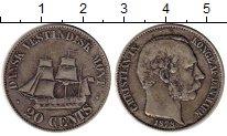Изображение Монеты Дания 20 центов 1878 Серебро XF-