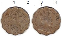 Изображение Монеты Индия 1 анна 1907 Медно-никель VF Эдуард VII