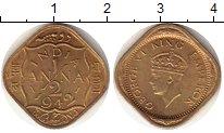 Изображение Монеты Индия 1/2 анны 1942 Латунь XF Георг VI