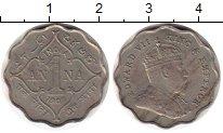 Изображение Монеты Азия Индия 1 анна 1909 Медно-никель XF