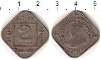 Изображение Монеты Азия Индия 2 анны 1934 Медно-никель VF