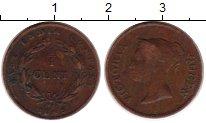 Изображение Монеты Стрейтс-Сеттльмент 1/4 цента 1845 Медь VF