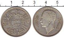 Изображение Монеты Азия Ирак 50 филс 1938 Серебро XF