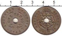 Изображение Монеты Великобритания Родезия 1 пенни 1942 Медно-никель VF
