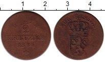 Изображение Монеты Гессен-Кассель 1/2 крейцера 1824 Медь VF