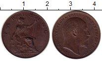 Изображение Монеты Великобритания 1 фартинг 1907 Бронза XF