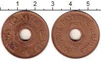 Изображение Монеты Азия Палестина 10 милс 1943 Бронза XF