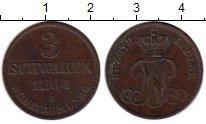 Изображение Монеты Германия Ольденбург 3 шварена 1864 Медь XF-