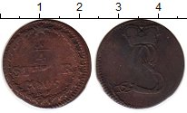 Изображение Монеты Германия Гессен-Дармштадт 1/4 стюбера 1805 Медь VF