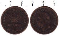 Изображение Монеты Индия Индия Португальская 1/4 таньга 1881 Медь VF