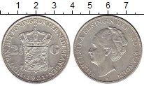 Изображение Монеты Европа Нидерланды 2 1/2 гульдена 1931 Серебро XF