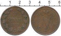 Изображение Монеты Финляндия 10 пенни 1895 Медь VF