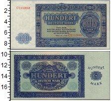 Изображение Банкноты ГДР 100 марок 1948  UNC
