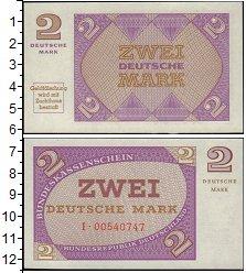 Изображение Банкноты ФРГ 2 марки 1967  UNC