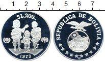 Изображение Монеты Боливия 200 боливар 1979 Серебро