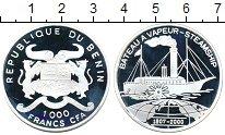 Изображение Монеты Африка Бенин 1000 франков 2000 Серебро