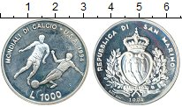 Изображение Монеты Сан-Марино 1000 лир 1994 Серебро  Чемпионат Мира по фу
