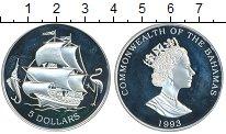 Изображение Монеты Северная Америка Багамские острова 5 долларов 1993 Серебро