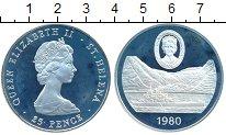 Изображение Монеты Великобритания Остров Святой Елены 25 пенсов 1980 Серебро