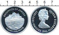 Изображение Монеты Великобритания Остров Джерси 25 пенсов 1977 Серебро