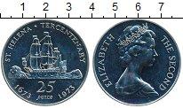 Изображение Монеты Остров Святой Елены 25 пенсов 1973 Серебро