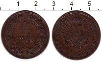 Изображение Монеты Европа Австрия 4 крейцера 1860 Медь XF