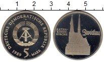 Изображение Монеты ГДР 5 марок 1989 Медно-никель Proof Церковь Святой Екате