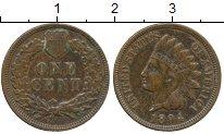 Изображение Монеты Северная Америка США 1 цент 1894 Бронза