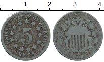 Изображение Монеты Северная Америка США 5 центов 1868 Медно-никель