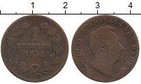 Изображение Монеты Германия Баден 1 крейцер 1851 Медь
