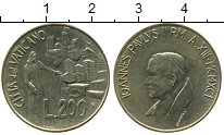 Изображение Монеты Ватикан 200 лир 1991 Латунь