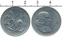 Изображение Монеты ЮАР 20 центов 1965 Медно-никель  Йохан ван Рибек