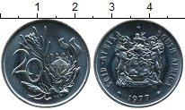 Изображение Монеты Африка ЮАР 20 центов 1977 Медно-никель