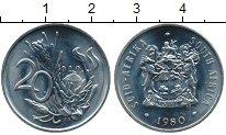 Изображение Монеты Африка ЮАР 20 центов 1980 Медно-никель