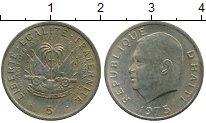 Изображение Монеты Северная Америка Гаити 5 сантим 1975 Медно-никель