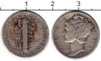 Изображение Монеты Северная Америка США 1 дайм 1939 Серебро