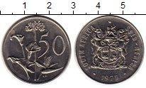 Изображение Монеты ЮАР 50 центов 1975 Медно-никель  Цветы