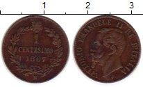 Изображение Монеты Европа Италия 1 сентесимо 1867 Медь