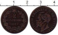 Изображение Монеты Европа Италия 2 сентесимо 1867 Медь