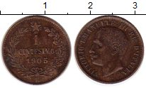 Изображение Монеты Италия 1 сентесимо 1905 Медь  Виктор Эммануил III