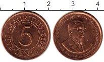Изображение Монеты Маврикий 5 центов 2012 Бронза UNC- Сивусагур Рамгулам