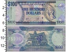 Изображение Банкноты Южная Америка Гайана 100 долларов 2012  UNC