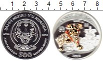 Изображение Монеты Руанда 500 франков 2018 Серебро Proof