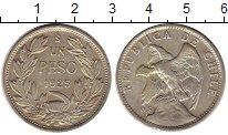 Изображение Монеты Южная Америка Чили 1 песо 1925 Серебро XF-
