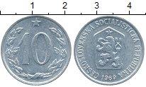 Изображение Дешевые монеты Чехия Чехословакия 10 хеллеров 1969
