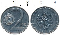 Изображение Дешевые монеты Чехия 2 кроны 1995