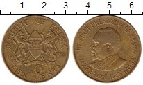 Изображение Монеты Кения 10 центов 1970 Латунь XF