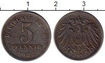 Изображение Монеты Германия 5 пфеннигов 1922 Железо XF
