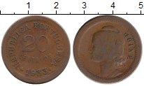 Изображение Монеты Африка Гвинея 20 сентаво 1933 Бронза VF